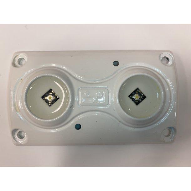 Led lampe m/2 dioder