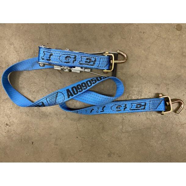 Surrestropp 2m m/jekk/spenner m/svivelkrok/bånd 0,3m blå