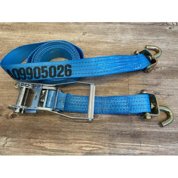 Surrestropp 4m m/jekk/spenner m/svivelkrok/bånd 0,3m blå