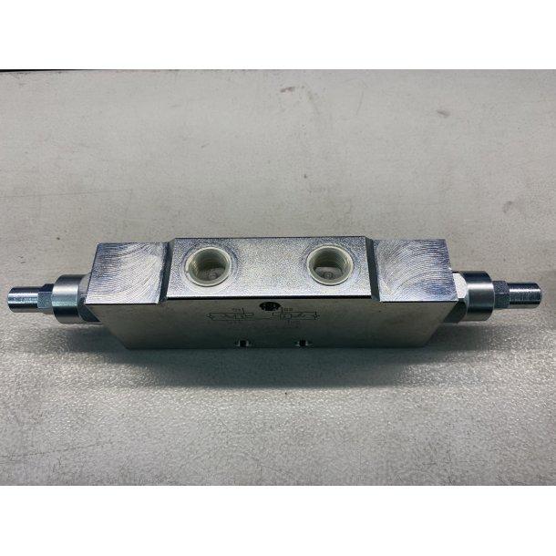 Dobbelt pilotstyrt senk/brems ventil